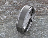 Free Engraving Tungsten Ring, Brushed Flat Classic Style 7mm, Man Wedding Band, Cheap Wedding band, Comfort Fit Wedding Band