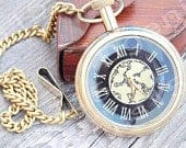 Pocket Watch, Engraved Watch, Personalized Watch, Groomsmen Gift, Mens Gift, Corporate Events, Birthday Gift, Leather Case, vintage watch