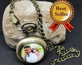Photo Pocket Watch Personalized Gift for Men Custom Pocket Watch Gift for Dad Personalized Watch Picture Pocket Watch