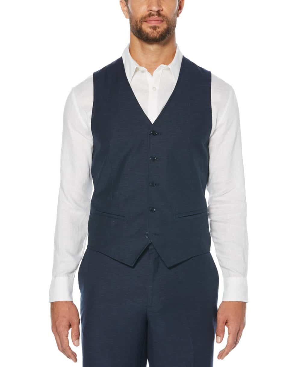 Cubavera Men's Pinstitched Vest (Dress Blues) - Size L