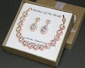 Mother of the Groom gift Mother of the Bride gift My other mom gift Grandmother gift Stepmother wedding set Silver Mother bracelet earrings