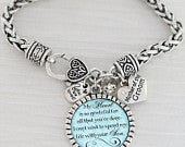 Mother of the Groom Gift from Bride Mother in Law Wedding Bracelet KeepsakePersonalized BlueMy heart is so gratefulWedding Dateheart