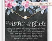 Mother of the Bride Gift, Gift from Groom, Pearl Necklace, Mother in Law Gift, Mother of the Bride Necklace, Gift from Son in Law, Gold Fill