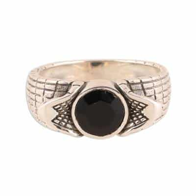 Men's Onyx Ring Crafted in India