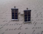 Dr Who Tardis Blue Police Box Cufflinks Party Gift Gifts Halloween Christmas Steampunk Costume Gothic Goth Unique Novelty Cuff Links