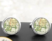 Map Cufflinks Newport RI Cuff Links State of Rhode Island for Groomsmen Wedding Party Fathers Dads Men