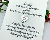Dad Pocket Token Of all the walks weve taken Gift for Father of The Bride Gift from Daughter Father of The Bride Gift Pocket Token