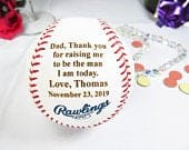 MLB Baseball for Dad, Father of the Groom, Fathers Day, Wedding Parent Gift, Groom Gift, Thank you for raising me to be the man I am today