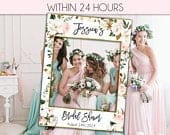 Bridal Shower Photo Prop Wedding photo props bridal shower photo booth frame Bridal Shower sign Bridal Shower decoration