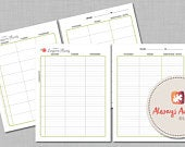 EDITABLE and Printable 8 Subject / Assignment / Weekly Lesson Plan Planner Watercolor Rose Letter and A4 Size