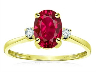 Star K™ Oval 8x6mm Created Ruby Engagement Promise Ring