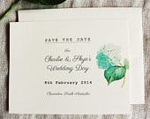 Blue Hydrangea Save The Date Cards Blue Floral Wedding Invitation Set Flower Save the Date PDF Summer Wedding Save the Date Handmade