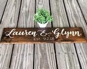 Wedding Welcome Sign Rustic Wedding Name Sign Custom Wood Sign For Wedding Gift Personalized Sign Welcome Wedding Sign Wood Name Sign Rustic