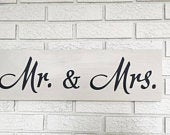 Mr. Mrs. Sign, 5th Anniversary Gift, Farmhouse Style, Country Wedding Gift, Rustic Wood Sign, Folk Art Decor, Wooden Wall Hanging