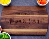 Custom Cutting Board, Wedding Gift, Charcuterie Board, Thoughtful Gift, Personalized Cheese Board, Engagement, Newlywed Gift, Housewarming