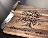 Personalized Custom wood Cutting Board, Engraved Cutting Board, Wedding Gift, Housewarming Gift, Anniversary Gift, Engagement Gift, Grandma