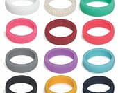 Big SALE Silicone Rings For Women, Womens Silicone Wedding Band Ring Great for gym, sports, style, beach, engagement, active. Rubber Rings