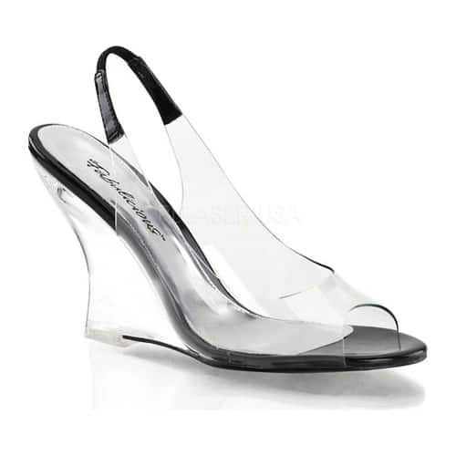Women's Fabulicious Lovely 450, Size: 7 M, Clear/Black/Clear