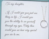 Gifts for daughter from Mom, DAUGHTER necklace, To Daughter from Mom, Daughters POEM, Birthday gift for daughter, wedding gift for daughter