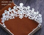 Crystal Tiara Princess Prom Wedding Bridal Hair Jewelry Accessories Quinceanera Pageant headband Crown CPP010919