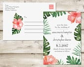 Island Save The Date Postcard, Destination Save the Date, Tropical Save the Date, Postcard Save the Date, Hawaii Beach Wedding Postcard