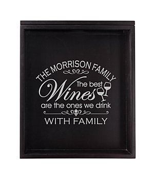 Personalized Wine Lover's Cork Display Box - The Best Wines