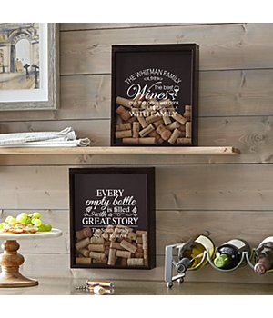 Personalized Wine Lovers Cork Display Box