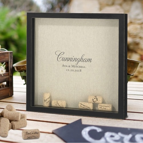 Personalized Wedding Signing Corks Frame