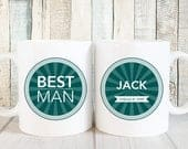 Best Man Gift for Best Man Coffee Mug, Personalized Best Man Proposal Gift, Wedding Party Gifts, Groomsmen Gift Mug, Man of Honor Mug