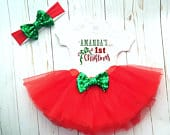 First Christmas Tutu Set Outfit, My 1st Christmas, Baby Girl Santa 1st Christmas First Christmas Dress, My First Holiday, Christmas Photos
