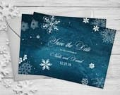 Winter Save The Date Cards 5 x 7 Winter Wedding Announcement Cards Save The Dates Personalized Save the Dates Photo Cards