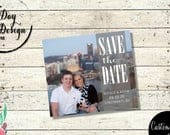 Landscape Photo Save the Date Save the Date Wedding Magnet large photo, photo background