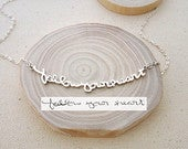 Memorial Signature Necklace Personalized Handwriting Keepsake Jewelry in Sterling Silver MOTHER GIFT Bridesmaids Gift NH01