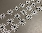 Cotton Guipure Lace Trim in White with Black Dot, Swiss, 2 1/8 inches wide, Price is per Yard