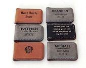 Personalized Money Clip SetsGift for GroomsmenGift for Father of the GroomBrotherUncleCustom Wedding GiftMagnetic Money Clip, MC02