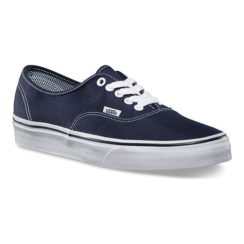 Vans Authentic Sneaker, Size: 7 M, (Angle Stripe Lining) Dress Blues/True White
