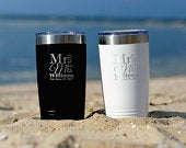 Mr and Mrs Tumblers Wedding Gift for the Couple Engagement Present Wedding Shower Cups Bride to Be Groom Bridal Party