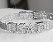 USAF MOM United States Air Force Bracelet Wholesale Stainless Steel Mesh Silver