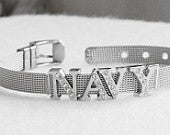 NAVY WIFE Bracelet Military Wholesale Stainless Steel Mesh Silver
