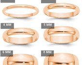 10K Solid Rose Gold 2mm 3mm 4mm 5mm 6mm 8mm Wide Mens and Womens Wedding Band Ring Sizes 414. Solid 10k Rose Gold,Thumb Toe Midi Ring