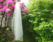 Custom Fingertip Length Wedding Veil Made to Order 1 Tier Pencil Edge