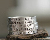 Silver Name Ring, Personalized Word Ring, Name Stacking Ring, Hand Stamped, Mom Jewelry, Name Stamped Ring, Gift for Her