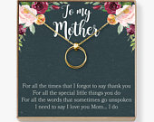 Mother Necklace: Mom Necklace, Mom Gift, Mothers Day Gift, Mothers Day Necklace, Mother Daughter Gift, 2 Linked Circles