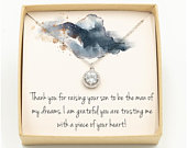 Mother of The Groom Necklace / Mother of the Groom Gift / Mother In Law Necklace / Mother In Law Gift / Mother of the Groom Gift From Bride