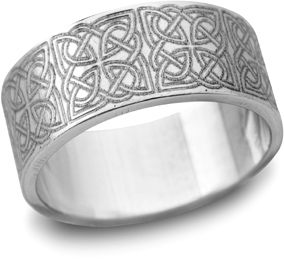 Platinum Celtic Filigree Wedding Band