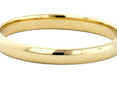14k Gold filled 3mm Plain Band Thumb Ring