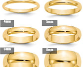 10K Solid Yellow Gold 2mm 3mm 4mm 5mm 6mm 8mm Wide Mens and Womens Wedding Band Ring Sizes 414. Solid 10k Yellow Gold,Thumb Toe Midi Ring