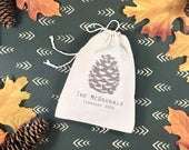 Forest Wedding Welcome Bags Pinecone Wedding Welcome Bags Autumn Wedding Favor Bags Winter Wedding Bags Fall Winter Wedding Favors