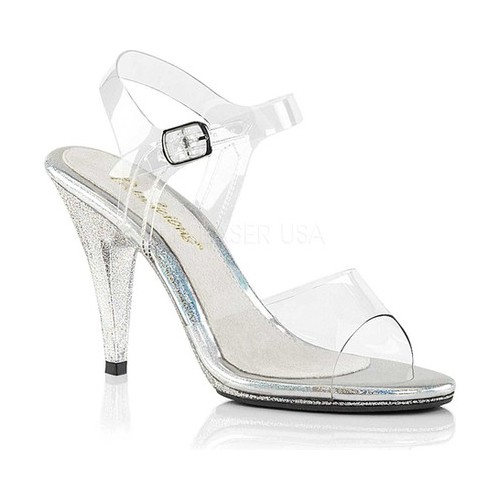 Women's Fabulicious Caress 408MG Ankle-Strap Sandal, Size: 13 M, Clear PVC/Clear