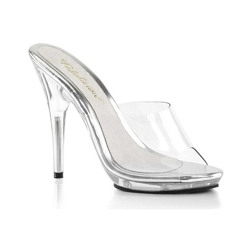 Women's Fabulicious Poise 501 Slide, Size: 6 M, Clear PVC/Clear
